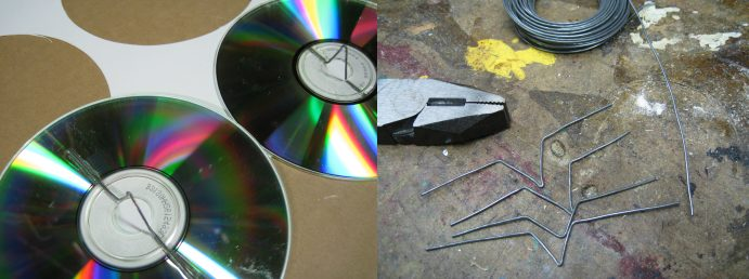 Making a baby mobile (out of old CDs)